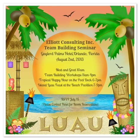 luau invitation template let s luau invitations cards on pingg