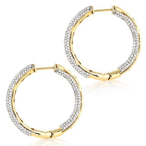 hoop earrings with 14k gold inside out hoop earrings 2 63ct