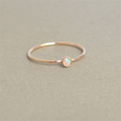 opal ring gold opal ring one delicate stackable
