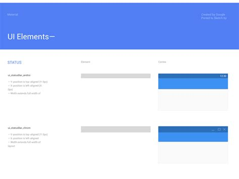 google design resources google s material design structural elements sticker sheet