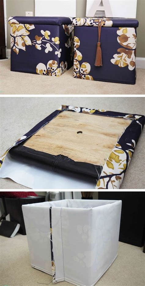 Diy Small Apartment Ideas Diy Custom Storage Ottomans Click Pic For 25 Diy Small Apartment Decorating Ideas On A Budget