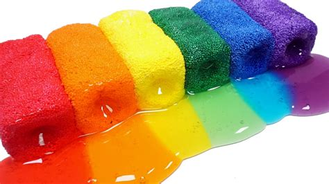 color foam how to make colors foam clay slime diy rainbow colors