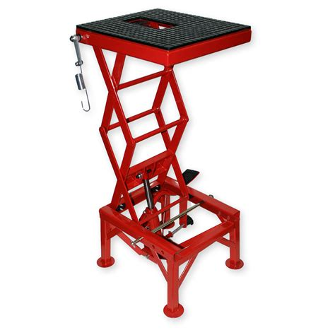 hydraulic motorcycle bench 300lb 135kg hydraulic motorcycle workbench lift bike atv