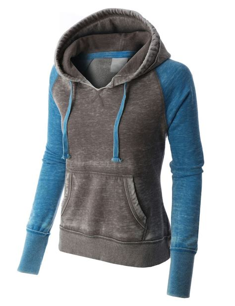 Jaket Jumper Grey Hoodie Premium Fleece For premium womens lightweight fleece burnout thermal pullover hoodie an feature and design