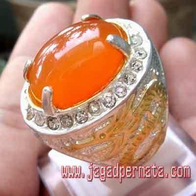 Cincin Orange Chalcedony sunkist orange chalcedony batu akik