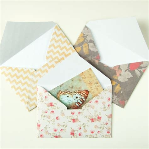 How To Make An Envelope From Scrapbook Paper - sweet and simple diy scrapbook paper envelopes