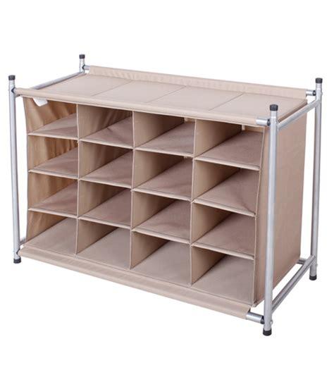 shoe compartment storage storagemaniac 16 compartment shoe cubby 16 pair chocolate