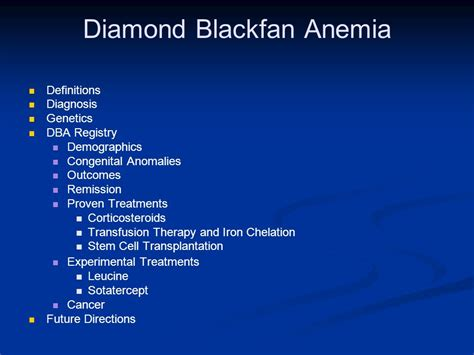 black fan anemia introduction to blackfan anemia and its treatment