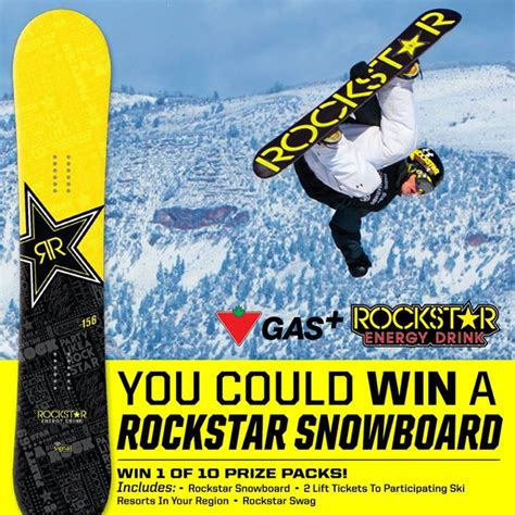 Snowboard Giveaway Contest - rockstar canadian tire snowboard contest