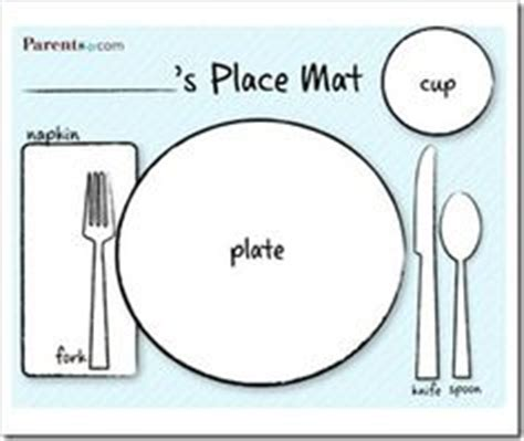1000 Images About Dramatic Play On Pinterest Dramatic Play Classroom Displays And Diy And Crafts Table Place Setting Template