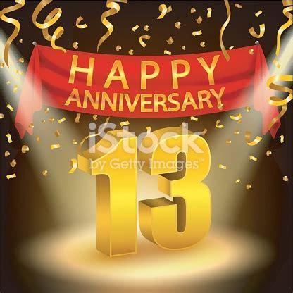 Happy 13th Anniversary Celebration With Golden Confetti
