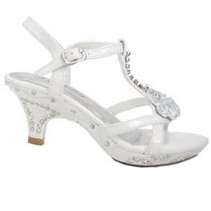 fabulous white rhinestone heel dress shoes baby 4