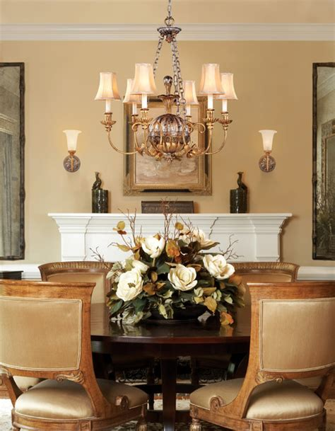 traditional chandeliers dining room corbett lighting