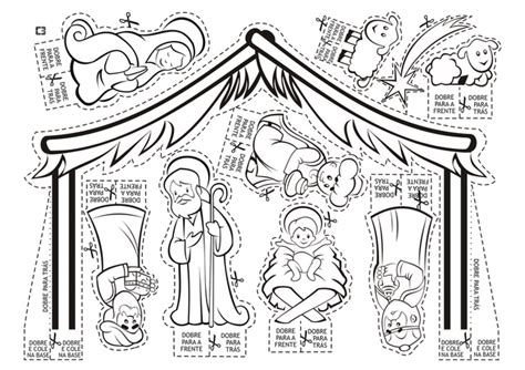 nativity card template pessebre per a retallar