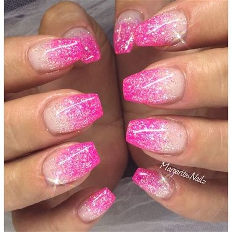 Nägel Muster Glitzer 3428 by 25 Best Ideas About Pink Glitter Nails On
