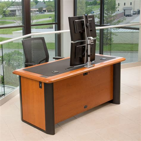 multi joint desk l best multi monitor computer desk best computer desk for