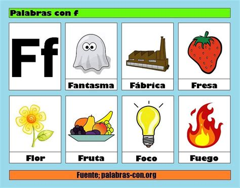 imagenes que comienzan con la letra g palabras con f lectoescritura pinterest palabras