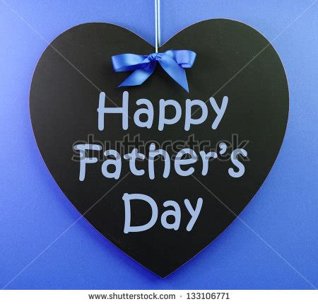 happy fathers day message written on stock photo 133106771