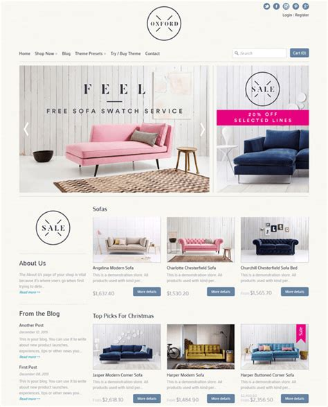 expression theme shopify 7 of the best shopify themes for furniture stores down