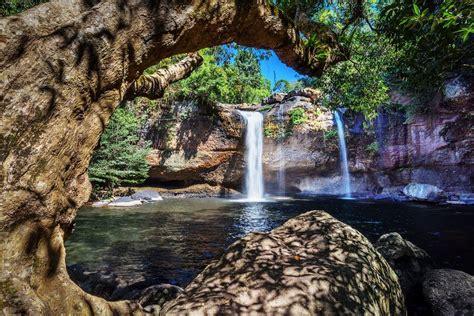 amazing waterfalls  thailand  crazy tourist