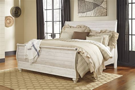 sleigh headboard king willowton whitewash king sleigh headboard b267 78