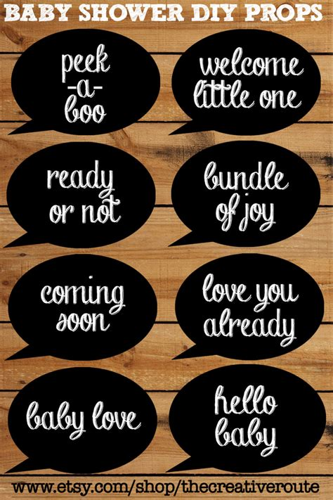 printable photo booth props black and white baby shower photobooth props chalkboard printable 8 page