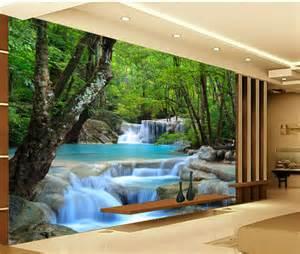 Wall Mural Beach Scene aliexpress com comprar encargo photowallpapers forest 3d