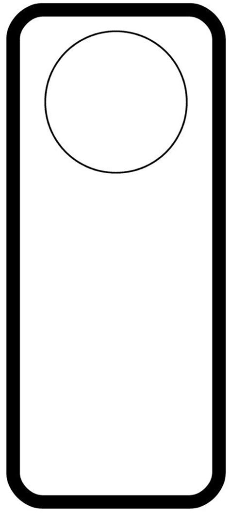 door hangers template door hanger printables and templates
