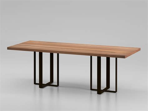 rectangular wooden table big table by alivar design