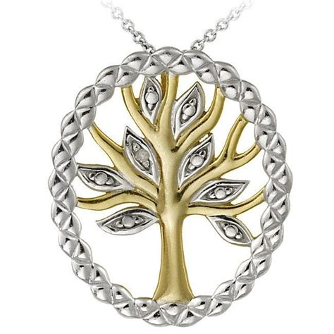 Exclusive Deal 20 At Givingtreejewelrycom by Db Designs Two Tone Sterling Silver Accent Tree Of