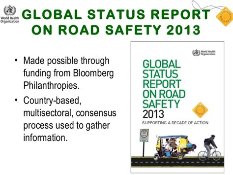 who global status report on road safety 2013 global status report on road safety 2013