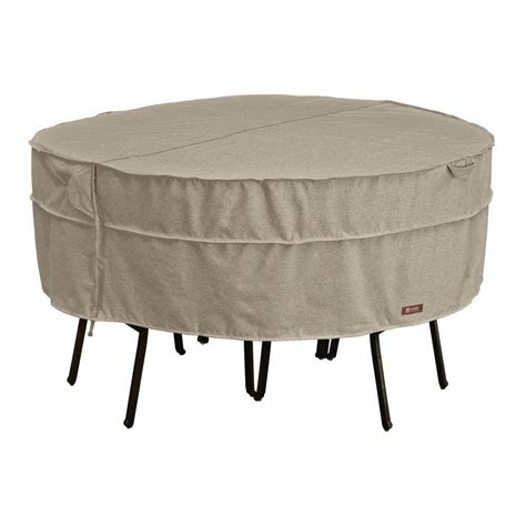 Classic Accessories Ravenna Medium Round Patio Table And Patio Table Accessories