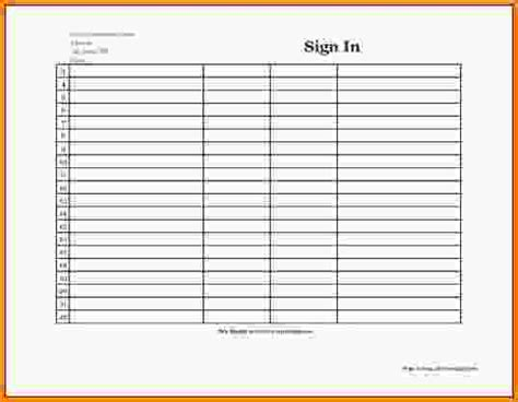 Best 25 Sign In Sheet Sle Sign In Sheet Template Monthly Medication