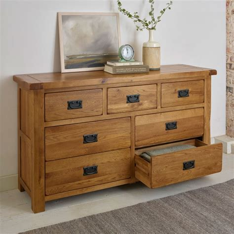Chest Of Drawers Rustic by Original Rustic 3 4 Chest Of Drawers In Solid Oak
