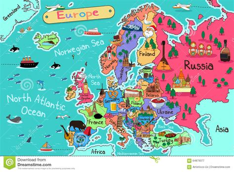 map of europe images europe map stock vector image 64879377
