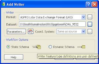 file format las dominoc925 merge lidar las files using fme