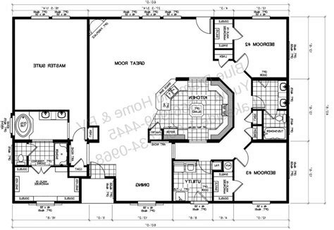 wide mobile home floor plans home deco plans