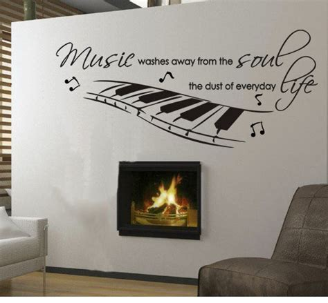 musical home decor wall decal musician music soul life piano from
