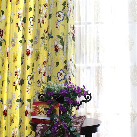 eco friendly curtains eco friendly cotton yellow curtains design ideas