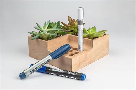 eco pot modular planter and pen holder