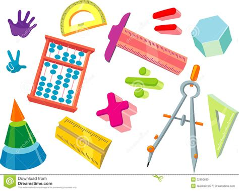 Mat Tools by Math For Stock Illustration Image Of Colorful