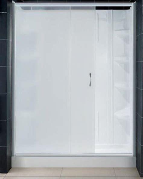 4 Foot Shower Door Dreamline Dl 6103c 04fr Infinity Shower Door With Frosted Glass 60 Quot X 72 Quot With Center Drain
