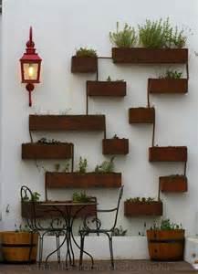 Patio Wall Decor by Patio Wall Pots Design Decor Beautiful Interiors And