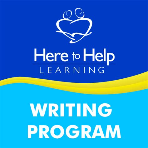 here to help learning a writing program the ask to