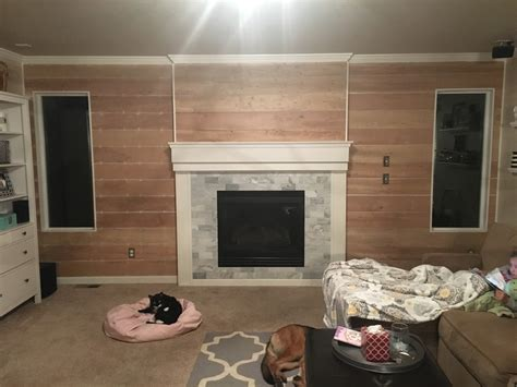shiplap next to fireplace just another day in paradise shiplap fireplace wall