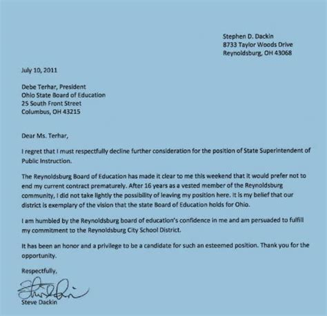 Withdrawal Letter School Wksu News What Happened To Ohio S Superintendent Search