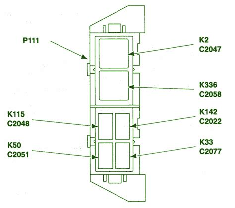 2001 ford ranger xlt bauxiliary relay fuse box diagram