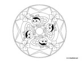 For Kids Mandalas Colouring Pages sketch template