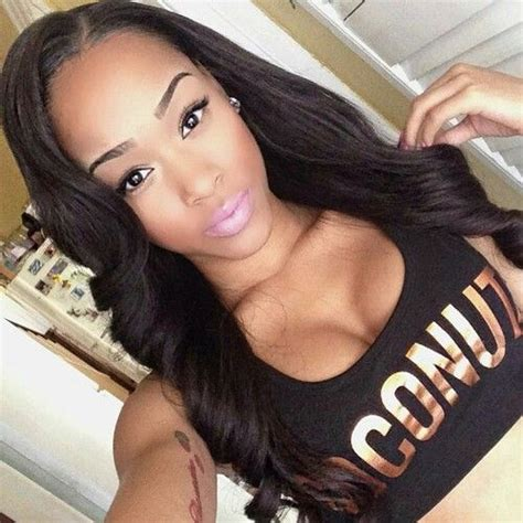 hairstyles for straight hair with no body 124 best sew in styles to wear images on pinterest