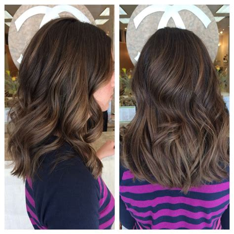 balayage highlights mid length hair before and after ig hairbynickyz medium length hair balayage highlights
